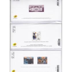 3 BLOCS SOUVENIRS  N°148 - N°146 - N°137 - 2018 et 2019  NEUFS** - L'ART DES GENTS