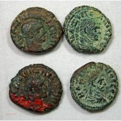 ROMAINE PROVINCIALE - LOT DE 4 TETRADRACHMES à identifier...
