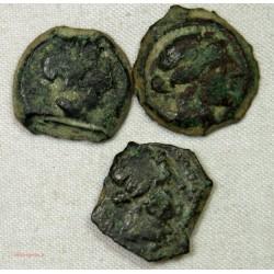 GAULOISE - lot de Bronze au taureau de Marseille différents