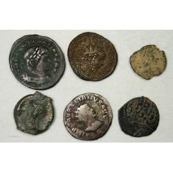 lot de monnaies : Potin, Postume, Aurélien, Constantin etc..