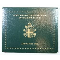 VATICAN EURO - Coffret BU 2005 Jean Paul II