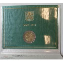 VATICAN EURO - Coffret 2 euro 2010 Commemorative BU