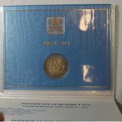 VATICAN EURO - Coffret 2 euro 2012 Commemorative BU