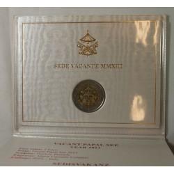 VATICAN EURO - Coffret 2 euro 2013 Commemorative BU SEDE VACANTE