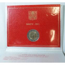 VATICAN EURO - Coffret 2 euro 2015 Commemorative BU - RENCONTRE MONDIALE DE LA FAMILLE
