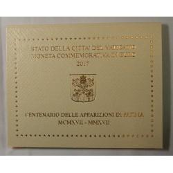 VATICAN EURO - Coffret 2 euro 2017 Commemorative BU - FATIMA