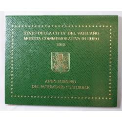 VATICAN EURO - Coffret 2 euro 2018 Commemorative BU PATIMOINE CULTUREL