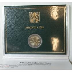 VATICAN EURO - Coffret 2 euro 2018 Commemorative BU - PERE PIO