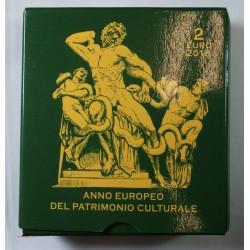 VATICAN EURO - Coffret 2 euro 2018 Commemorative BE PATIMOINE CULTUREL