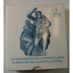 VATICAN EURO - Coffret 2 euro 2019 Commemorative BE CHAPELLE SISTINE