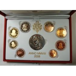 VATICAN EURO - belle épreuve Coffret complet 1 centime à 2 euro 2008