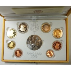 VATICAN EURO - belle épreuve Coffret complet 1 centime à 2 euro 2009