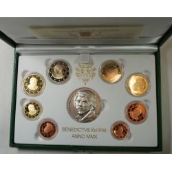 VATICAN EURO - belle épreuve Coffret complet 1 centime à 2 euro 2010