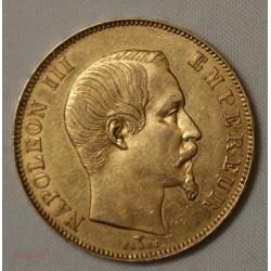 NAPOLEON III - 50 Francs or 1858 A - SUP