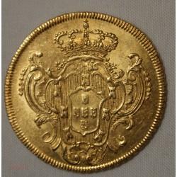 BRESIL - 6400  REIS 1786 Gold Maria et Pétrus III