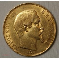 NAPOLEON III - 50 Francs or 1859 BB - SUP+