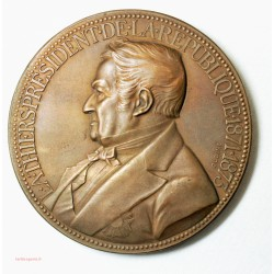 Médaille Président de la République Adolphe Thiers  Oudiné Medal 185g