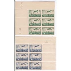 PA N°8 FEUILLE ENTIERE 85 c. vert Coin daté l'art des gents
