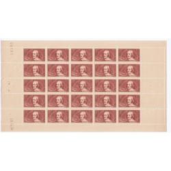FEUILLE ENTIERE N° 330 25 TIMBRES ANNEE 1936 NEUFS** Cote 150 Euros L'art des gents
