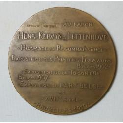 Médaille Baron Henri KERVYN de LETTENHOVE (BELGIQUE) Bruxelles 1910