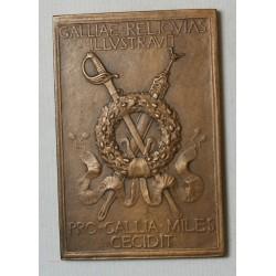 Médaille plaque Joseph DECHELETTE (ARCHEOLOGUE) 1916 par HENRY NOCQ