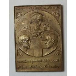 Médaille plaque J.B. FERRAND Médecin hopital St Joseph 1912-36 par VILLANDRE
