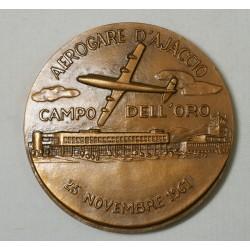 Médaille Aérogare d' Ajaccio (Corse) Campo dell'oro CCI