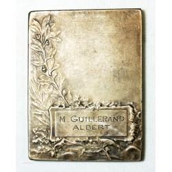 Médaille plaque  bronze argenté Attribué, par RASUMNY