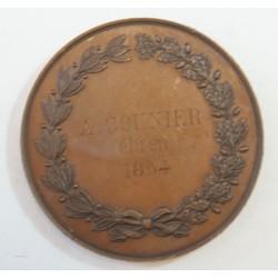 Médaille Chambre de Commerce de RENNES 1858 par C. TROTIN (rare)