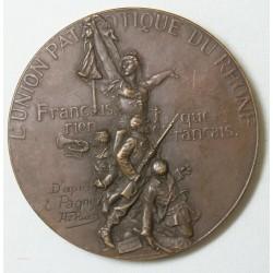 Médaille Union Patriotique du RHÔNE D'après Pagny/Rivet (1888)