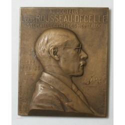 Médaille plaque  Dr L. ROUSSEAU-DECELLE 1937, par ABEL LA FLEUR