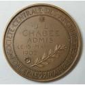 Médaille ARCHITECTURES Attribuée, par E.A. OUDINE