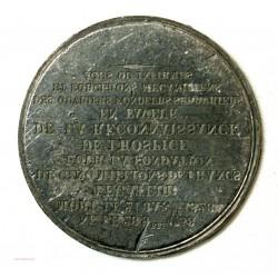 Médaille INCUSE UNIFACE LEGATEUR 1828 de 5 M. Frs pour Hospice