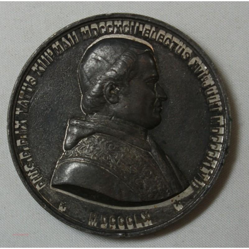 Médaille élection Pape Pie IX 16-07-1846/1860 par MASSONNET