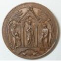 Médaille BAPTEME, COMMUNION, CONFIRMATION 1865 par OUDINE