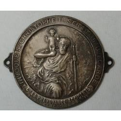 Médaille Plaque auto Prévoyance accidents St Christophe