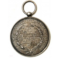 Médaille argent Mission St Joseph 228 rue Lafayette Paris 1908