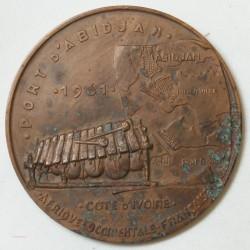 Médaille Port d'ABIDJAN 1961 Cote d'Ivoire par E.MONIER