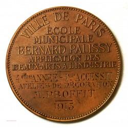 Médaille Bronze ville de Paris, BEAUX ARTS par J. LAGRANGE