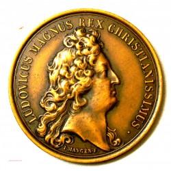 Médaille Louis XIV Soumission des dix villes d'Alsace 1680 Refrappe
