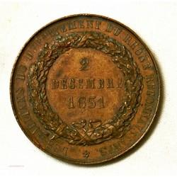 MEDAILLE L.C.M Baron de Vincent Préfet du Rhone 2 déc. 1851