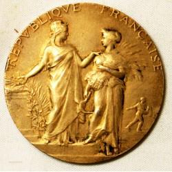 Médaille Agriculture  République Française  signée A.Dubois argent