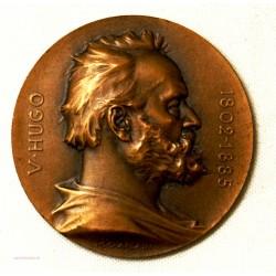Médaille Victor Hugo Souvenir du centenaire 1902 par J.C. Chaplain