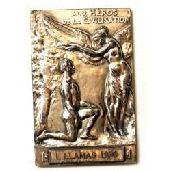 Médaille Argent Fondation Carnégie - Aux héros de la civilisation