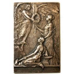 Médaille Bronze, Labor. Improbus. Omnia. Vincit, Allégorie de l'effort