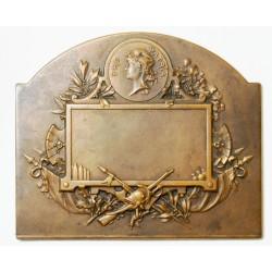 Médaille Plaque Bronze, PRO PATRIA non atribuée 170grs