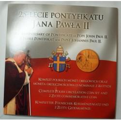 Pologne coffret du 25ème anniversaire pontifical de Jean Paul II
