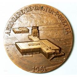 Médaille Aérogare de Bastia (Corse) Corte Balagne CCI