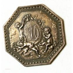 Jeton Argent - Louis XV, Amour et  Mariage octogonale
