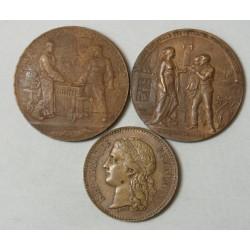 lot de 3. expo univ 1878+ expo de 1900 caisse des dépots+MDP 1900